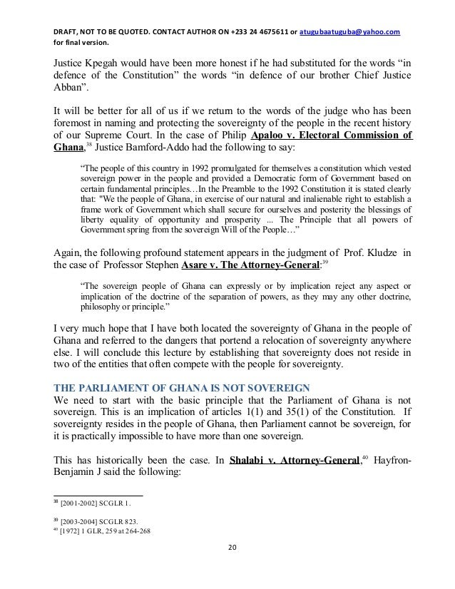 The Constitution Of The Republic Of Ghana Pdf