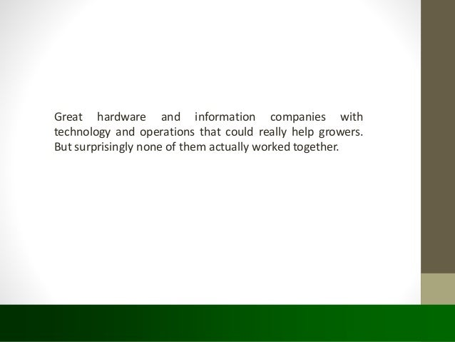 Connected Agricultural services and internet of things.. Slide 3