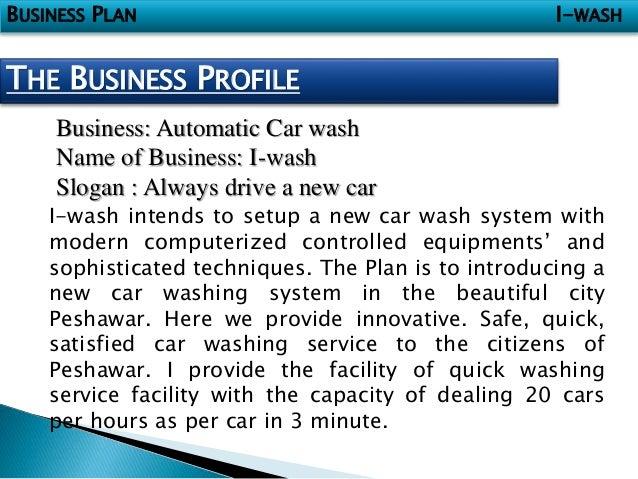 Car wash business plan ppt slideshare