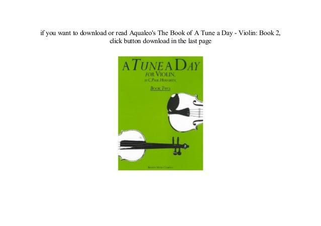 a tune a day violin book 2 free download