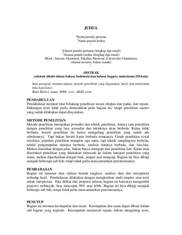Aturan penulisan artikel jurnal ilmiah ug