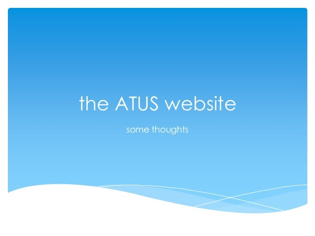 the ATUS websitesome thoughts