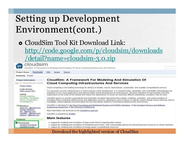 Cloudsim tutorial
