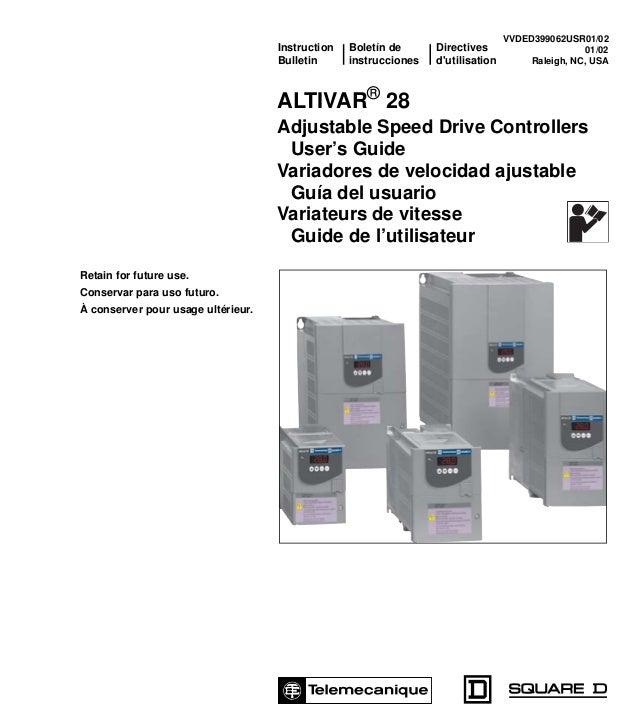 Instruction Boletín de Directives Bulletin instrucciones d'utilisation ALTIVAR® 28 Adjustable Speed Drive Controllers User...