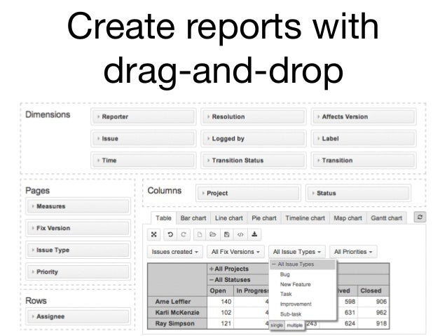 Create reports with drag-and-drop