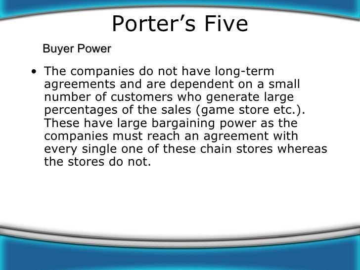 buyer bargaining power in video game industry