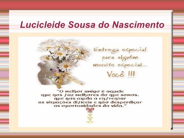Lucicleide Sousa do Nascimento