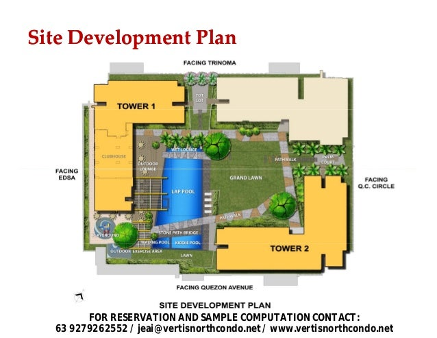 Avida towers vita tower 2 vertis north for Sample site plan