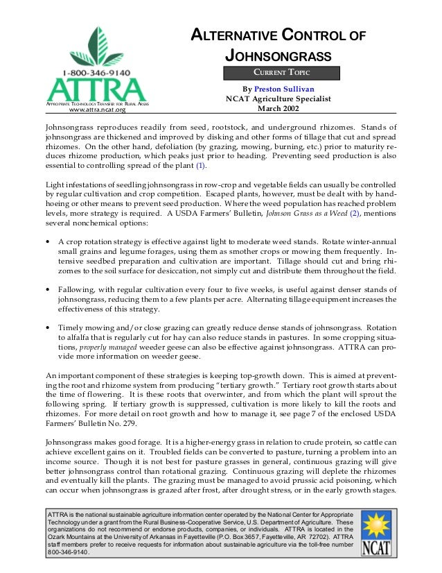 ATTRA is the national sustainable agriculture information center operated by the National Center for Appropriate Technolog...