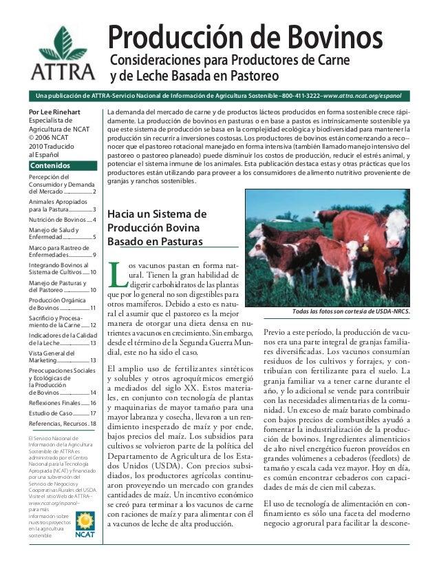 Una publicación de ATTRA-Servicio Nacional de Información de Agricultura Sostenible–800-411-3222–www.attra.ncat.org/espano...