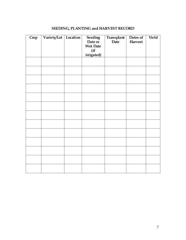 Record keeping and budgeting workbook for organic crop producers 7 pronofoot35fo Image collections