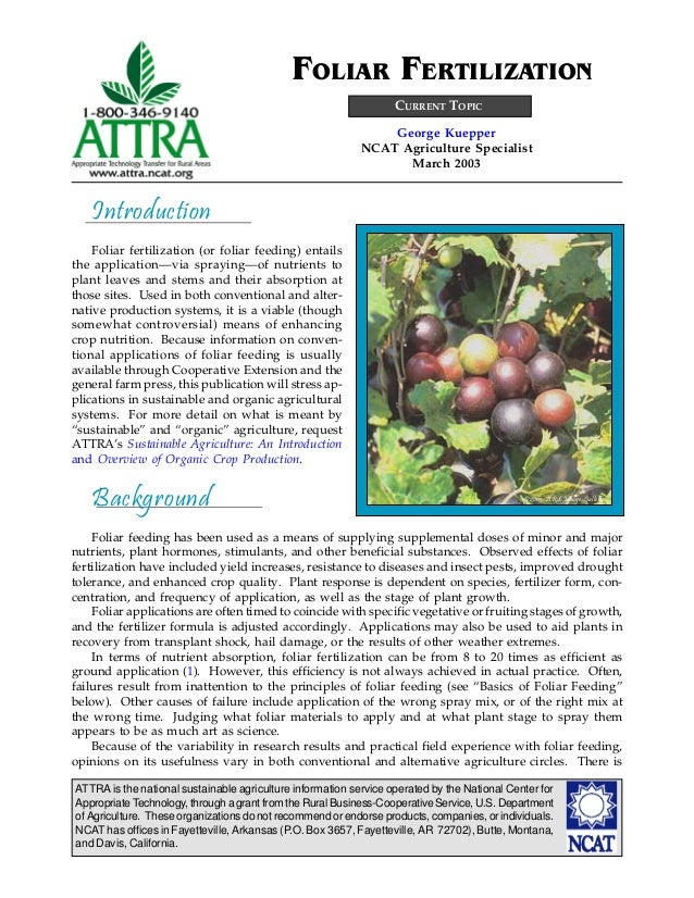 ATTRA is the national sustainable agriculture information service operated by the National Center for AppropriateTechnolog...