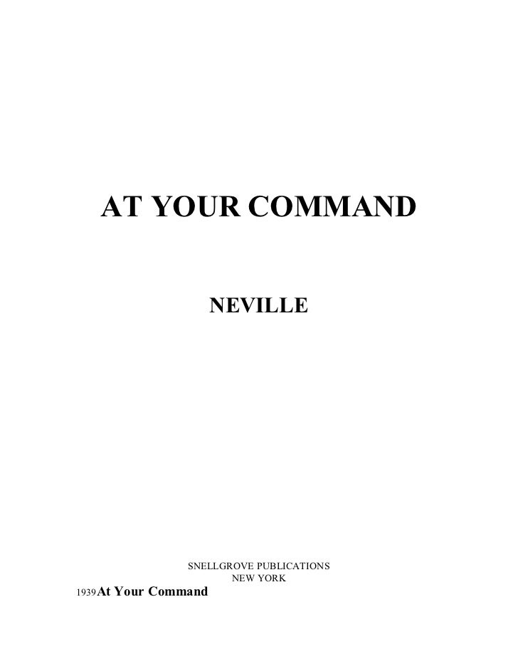 ATYOURCOMMAND                      NEVILLE                SNELLGROVEPUBLICATIONS                       NEWYORK1939...