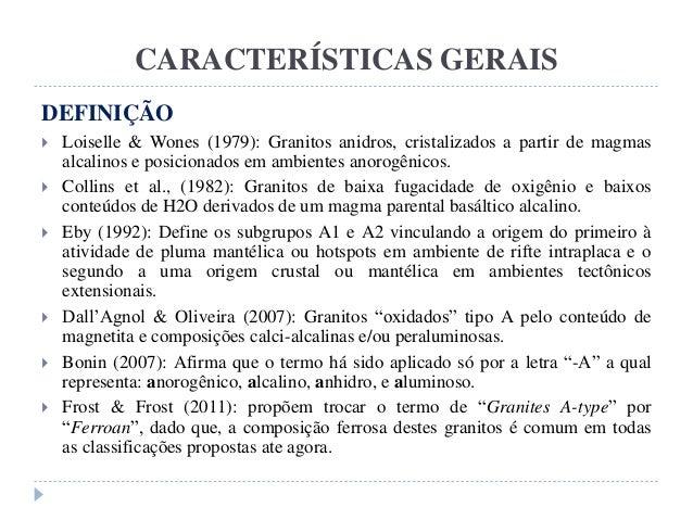 Origens e ambientes tect nicos de granitos tipo a for Granito caracteristicas
