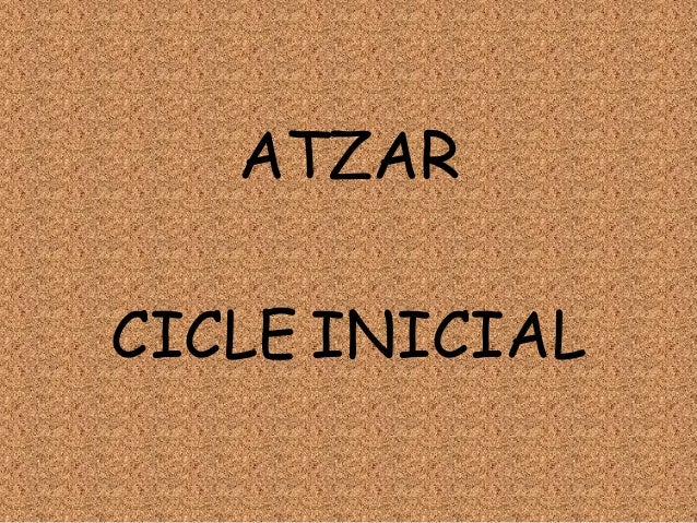 ATZARCICLE INICIAL