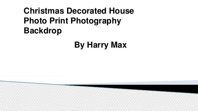 Christmas Decorated House Photo Print Photography Backdrop By Harry Max