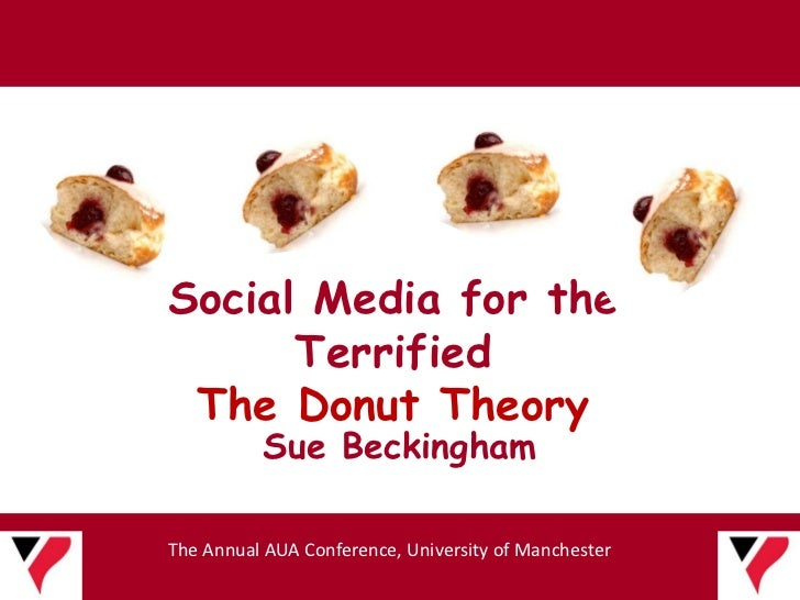 Social Media for the      Terrified The Donut Theory          Sue BeckinghamThe Annual AUA Conference, University of Manch...