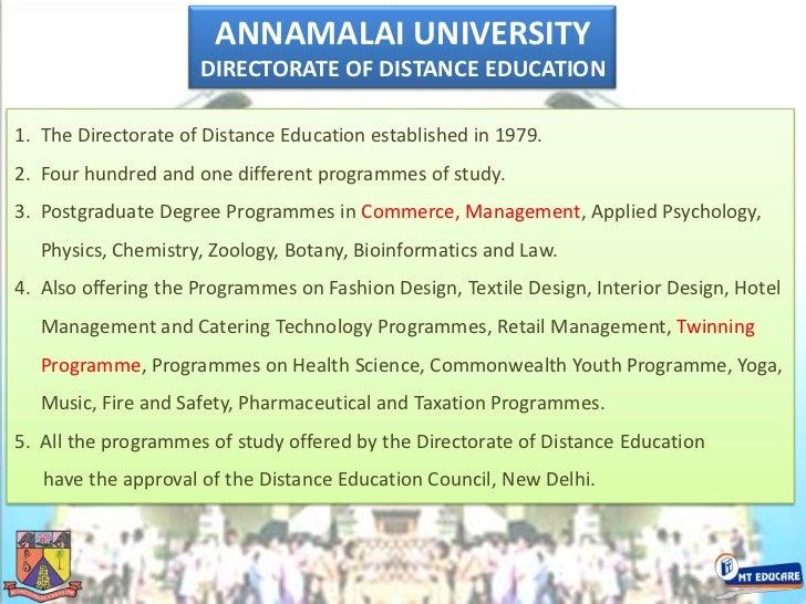 ANNAMALAI UNIVERSITYbr DIRECTORATE OF DISTANCE EDUCATIONbr