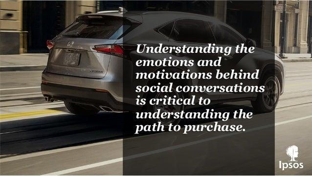 Understanding the emotions and motivations behind social conversations is critical to understanding the path to purchase.
