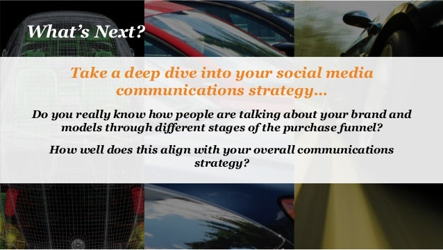 What's Next? Take a deep dive into your social media communications strategy… Do you really know how people are talking ab...