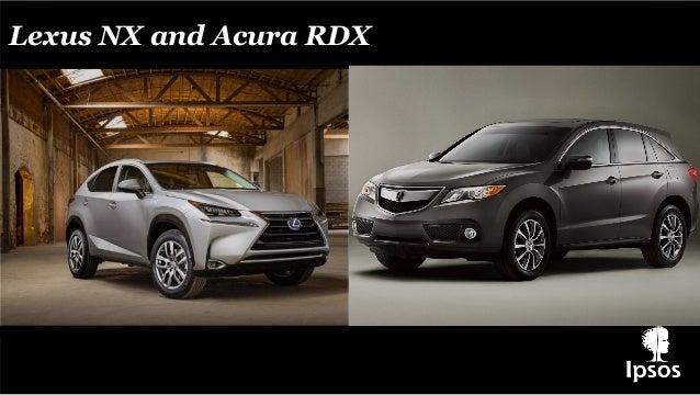 Lexus NX and Acura RDX