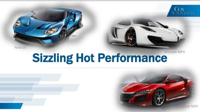 Sizzling Hot Performance Ford GT McLaren MP4 Acura NSX
