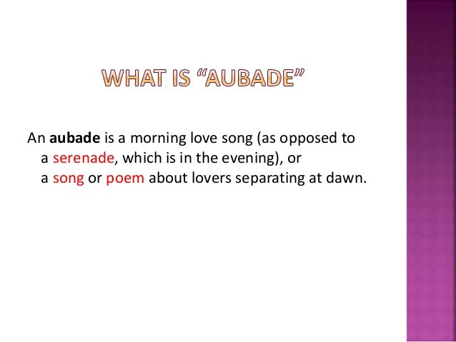 what is an aubade