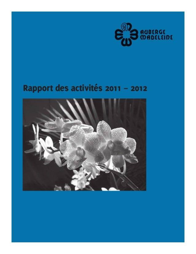 Rapport des activités 2011 – 2012