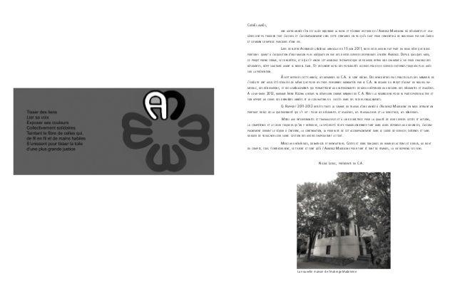 Auberge madeleine rapport d`activités 2011-2012 Slide 3