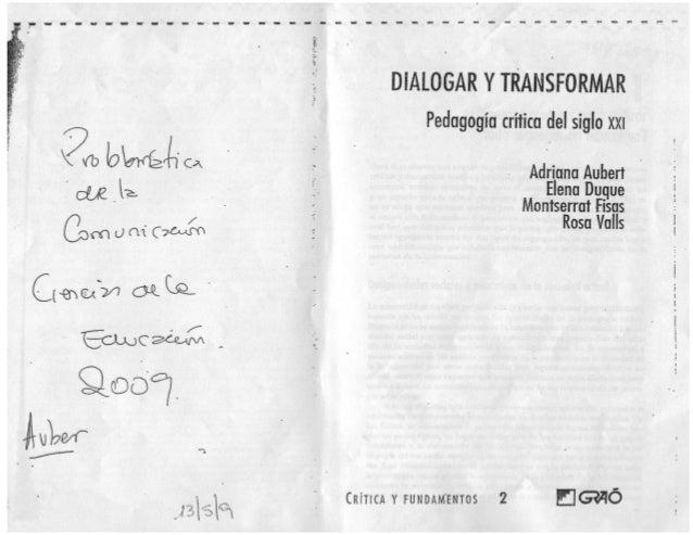Aubert, a. cap 1 del libro Dialogar y transformar
