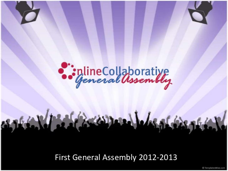 First General Assembly 2012-2013