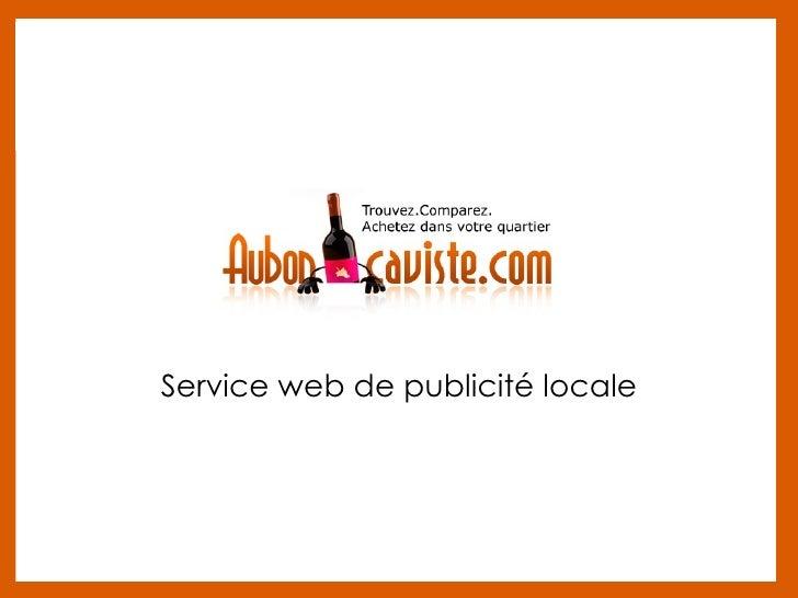 Service web de publicité locale