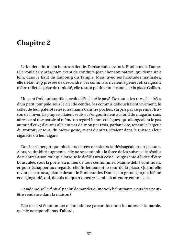 au bonheur des dames chapitre 4
