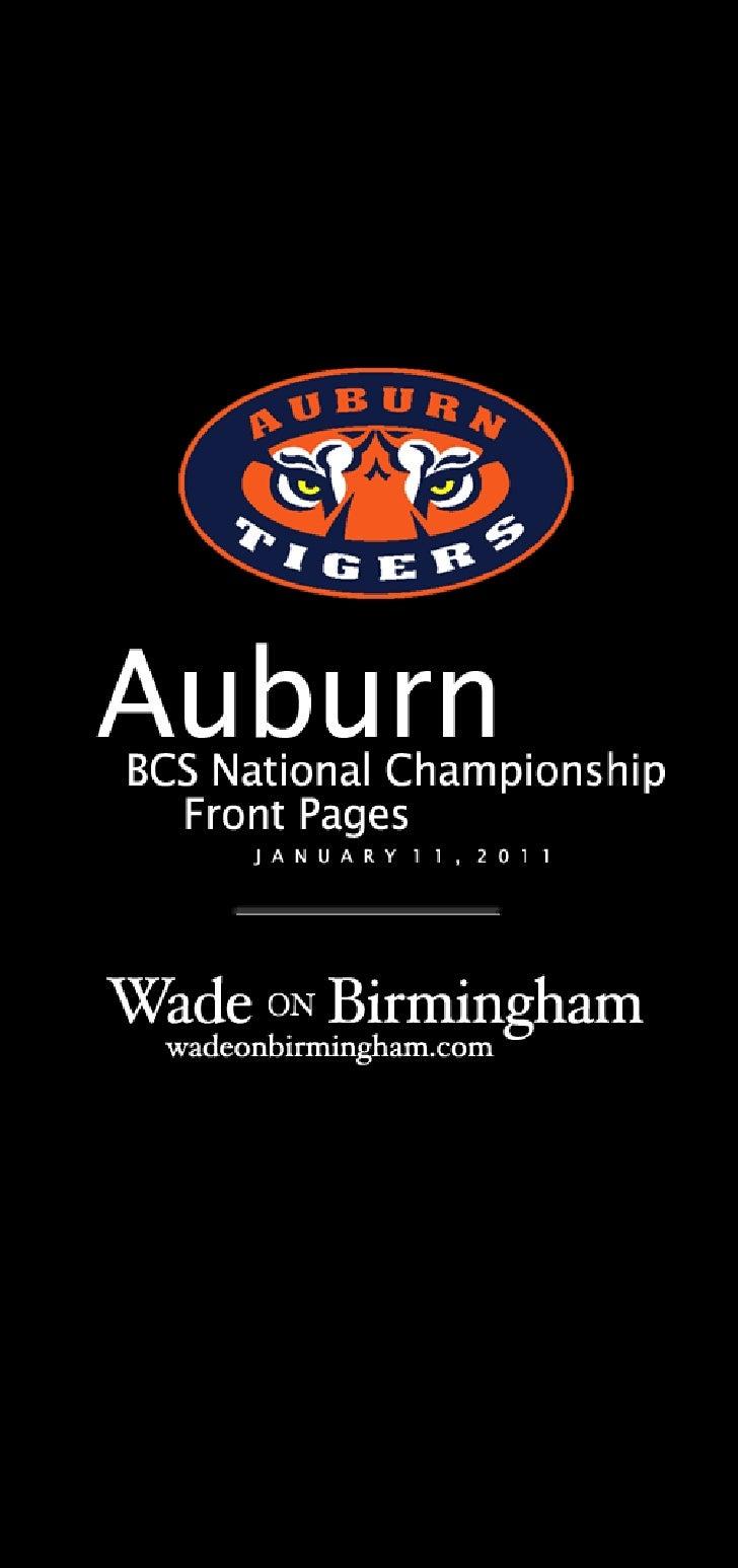 Auburn 2010 BCS National Championship front pages