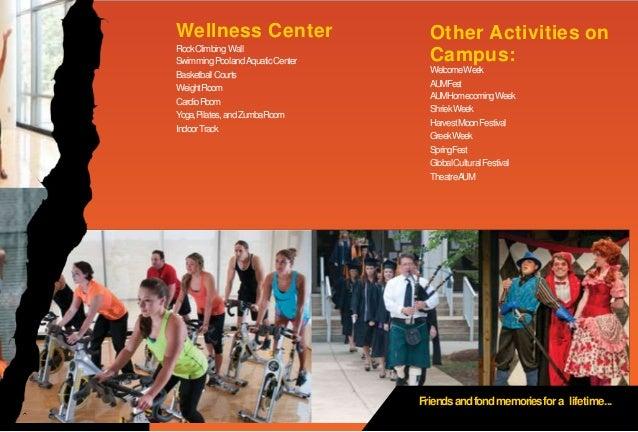 Wellness Center RockClimbingWall SwimmingPoolandAquaticCenter BasketballCourts WeightRoom CardioRoom Yoga,Pilates,andZumba...