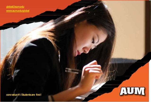 global@aum.edu www.aum.edu/global corevalue#1:Studentsare first!