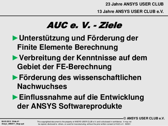 23 Jahre ANSYS USER CLUB                                                                                              13 J...