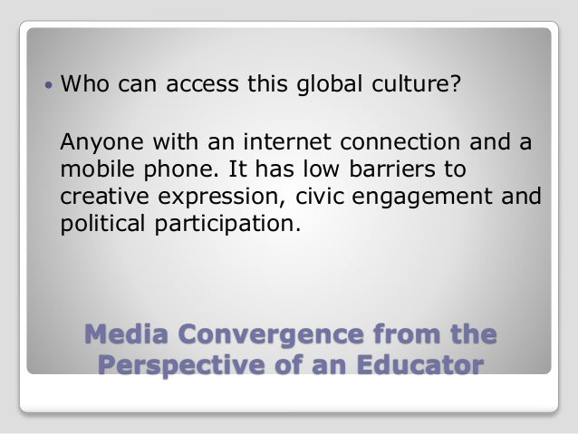 Media convergence a perspective