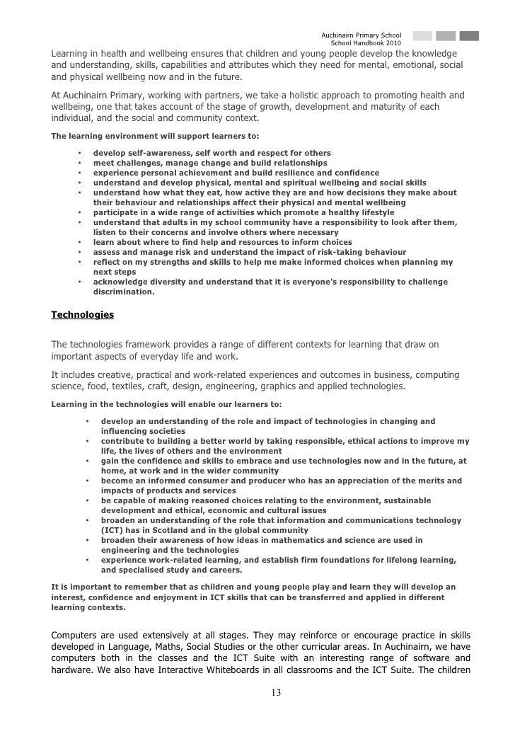 Auchinairn Primary School                                                                       School Handbook 2010 Learn...