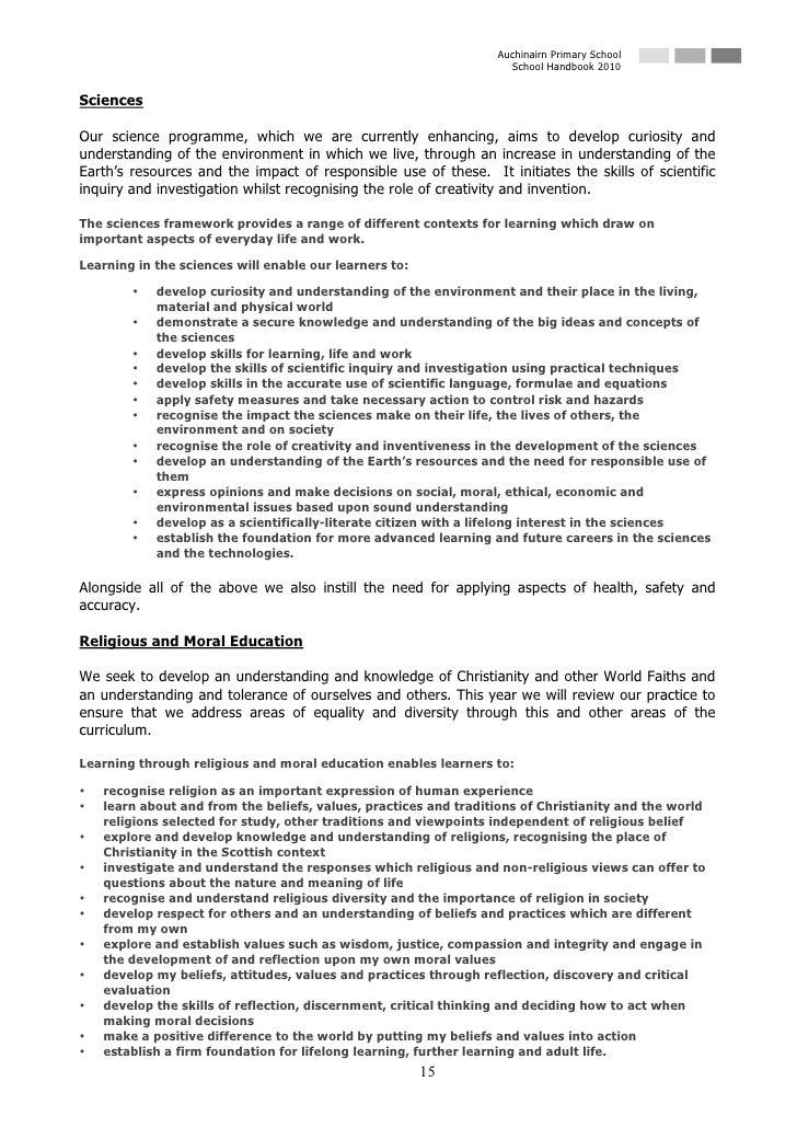 Auchinairn Primary School                                                                     School Handbook 2010   Scien...