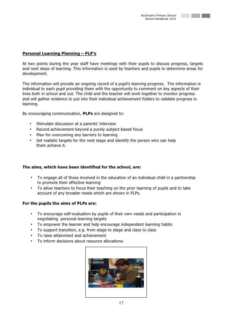 Auchinairn Primary School                                                                    School Handbook 2010     Pers...