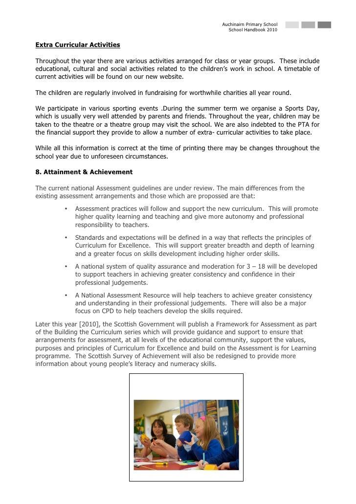 Auchinairn Primary School                                                                     School Handbook 2010   Extra...