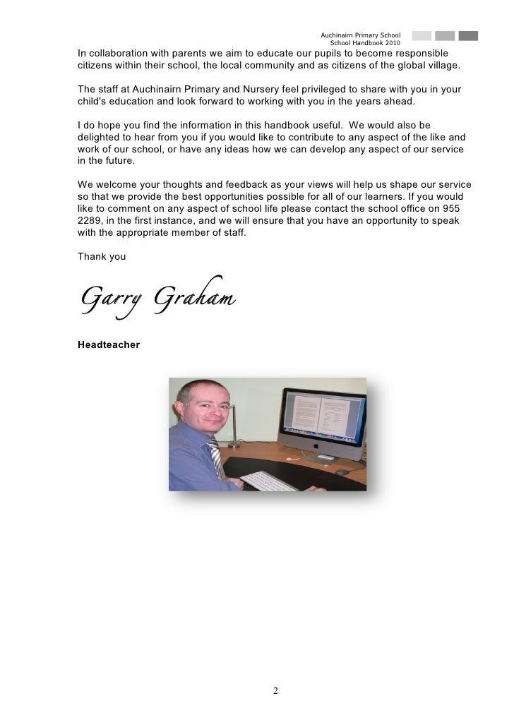 Auchinairn Primary School                                                          School Handbook 2010 In collaboration w...