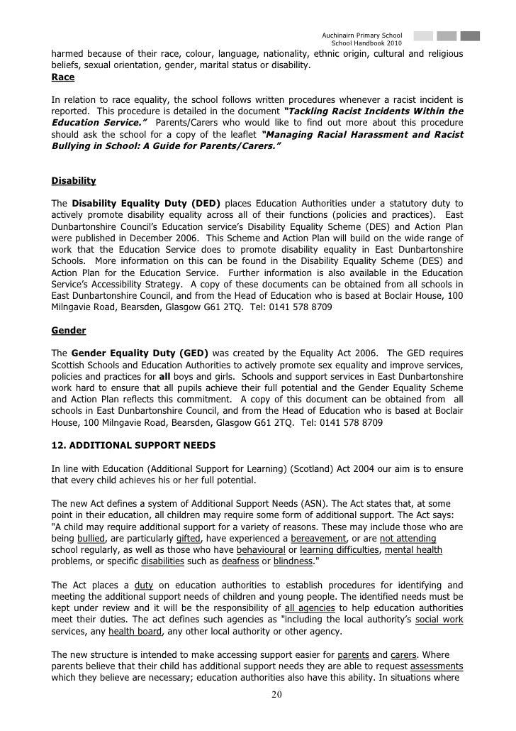 Auchinairn Primary School                                                                    School Handbook 2010 harmed b...