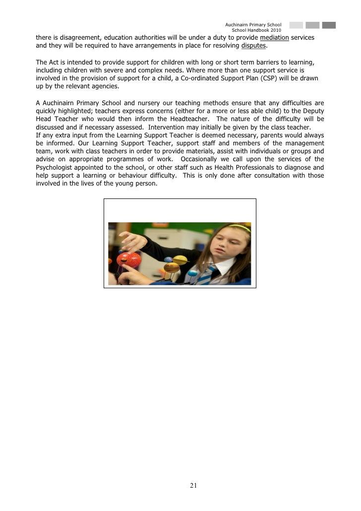Auchinairn Primary School                                                                    School Handbook 2010 there is...