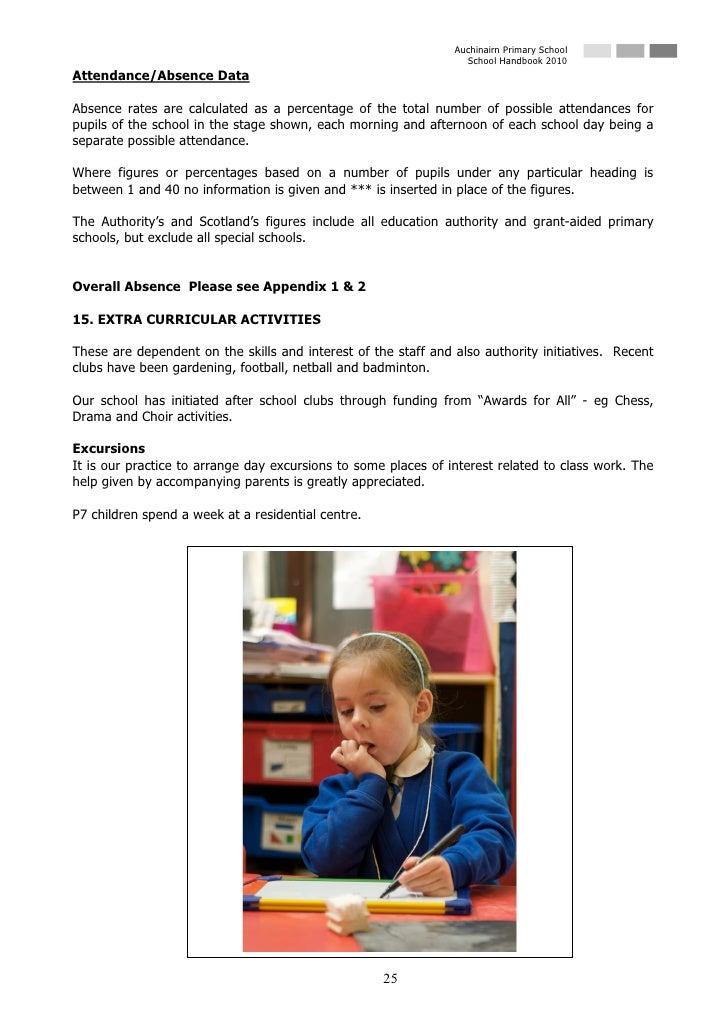 Auchinairn Primary School                                                                   School Handbook 2010 Attendanc...