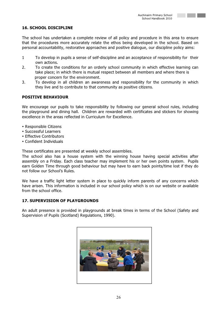 Auchinairn Primary School                                                                      School Handbook 2010   16. ...