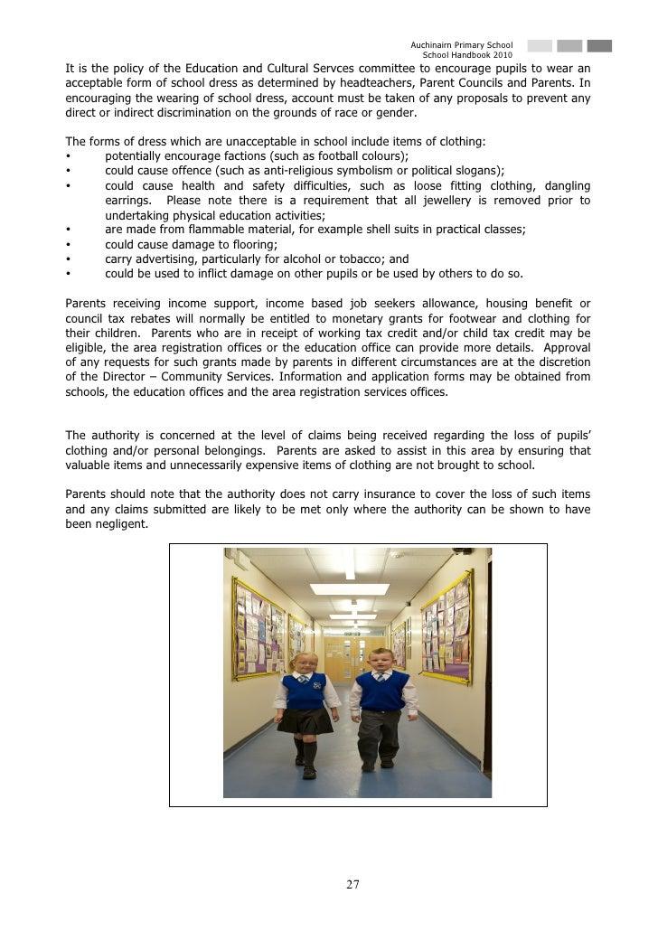Auchinairn Primary School                                                                   School Handbook 2010 It is the...