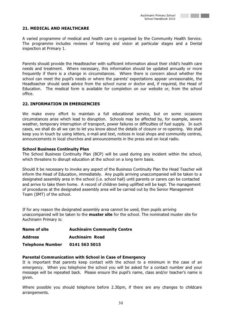 Auchinairn Primary School                                                                    School Handbook 2010   21. ME...
