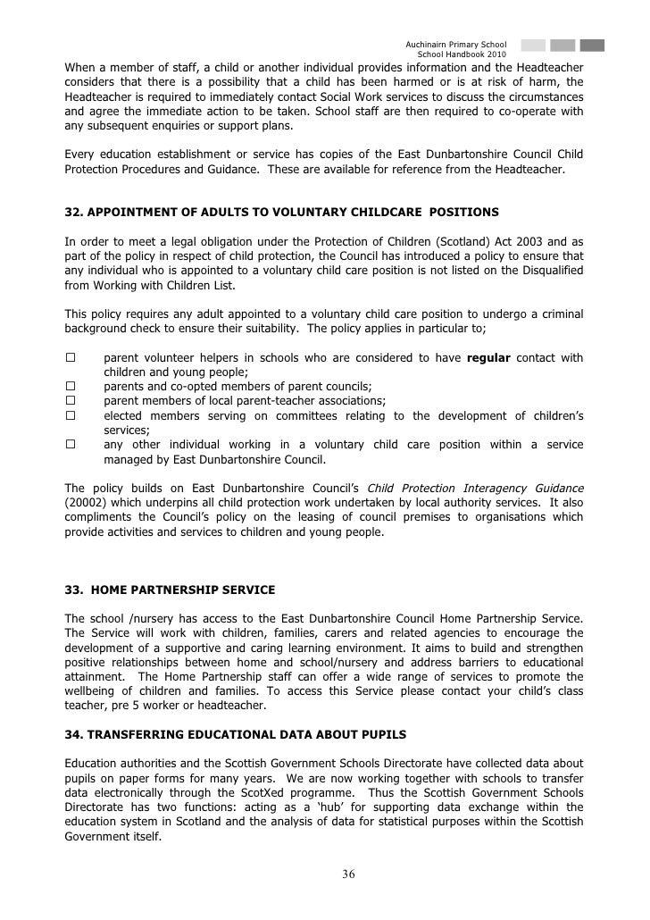 Auchinairn Primary School                                                                     School Handbook 2010 When a ...